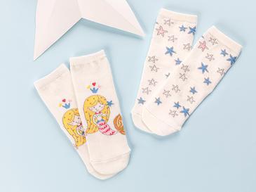 Little Mermaid Бебешки Чорапи 6-12 Месеца Розово