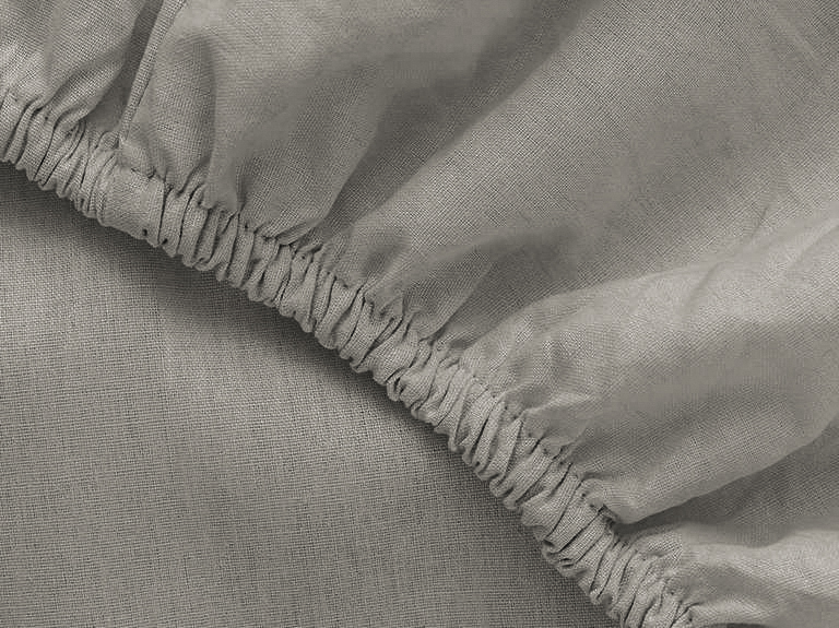 Plain Cotton Fitted Bed Sheet  Single Size 100x200 Cm Pebblestone
