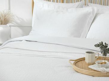 Nature Покривка Комплект King Size Жакардово Тъкано Бяло
