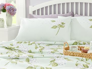 Hydrangea Комплект Пике-Лятно Одеяло Единичен Размер 150x220 См Зелено