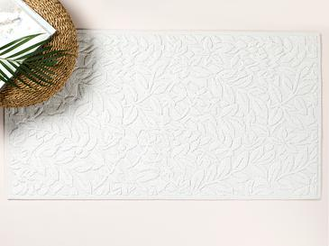 Timeless Floral Килим Памучен 120x160 Cm Бяло