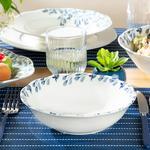 Porcelain Salad Bowl 20 Cm. White-blue