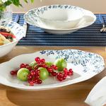 Porcelain Platter 30 Cm.. White-blue