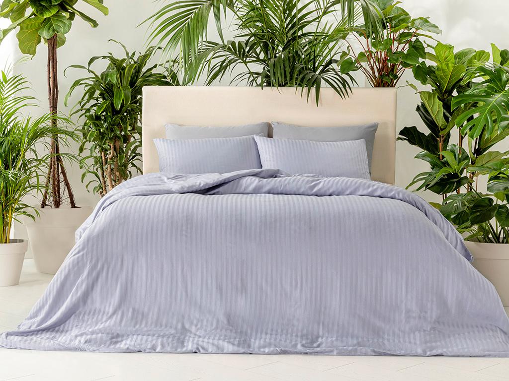Crystal Duvet Cover Full Set Single Size 160x220 Cm Blue