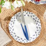 Porcelain Cake Plate 20 Cm. White-blue