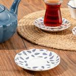 Porcelain Tea Plate 12 Cm. White-blue