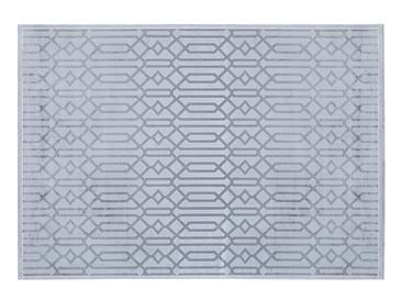 Velvet Geometric Килим Кадифе 80x250 cm Сиво