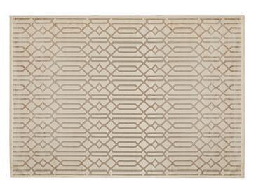Velvet Geometric Килим Кадифе 160x230 cm Бежово