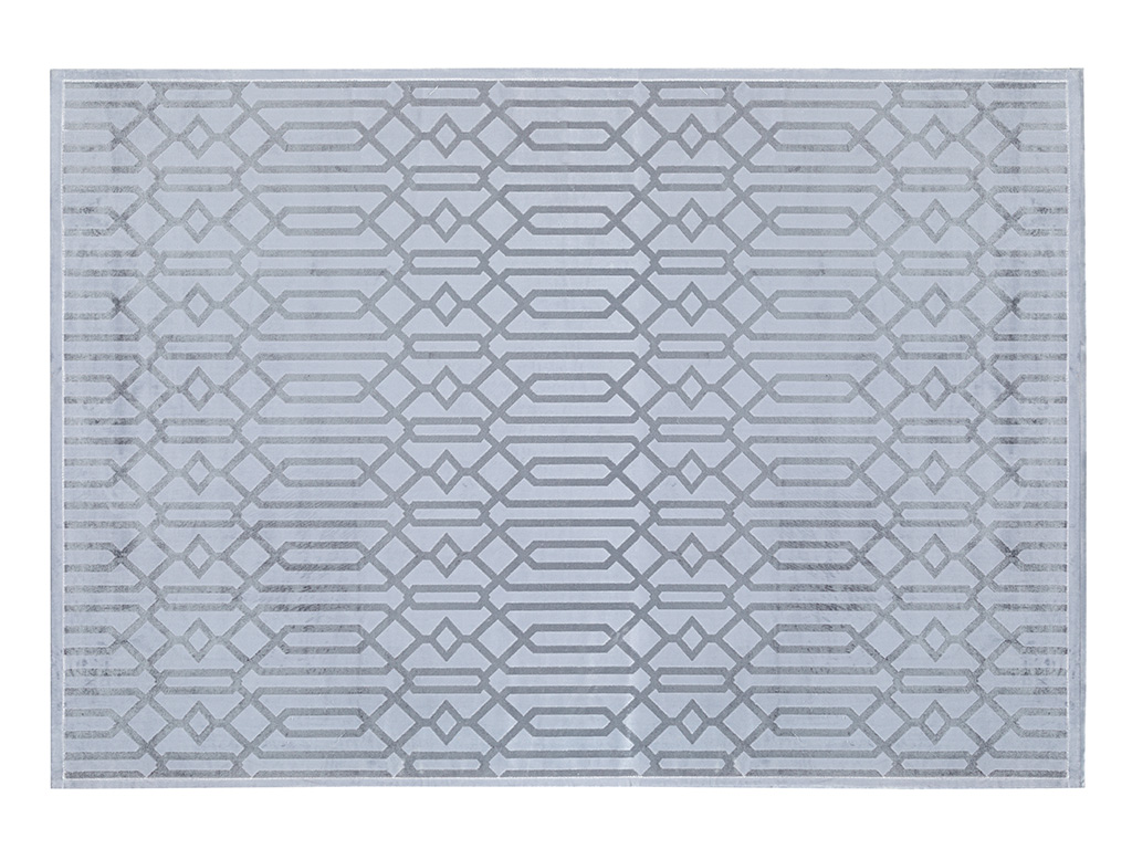 Velvet Carpet 160x140 Cm Gray