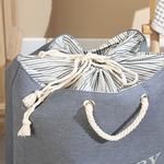 Ruth Laundry Basket Gray