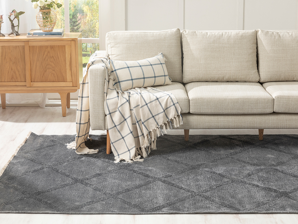 Vera Chiffon Carpet 80x150 Cm Antrasit
