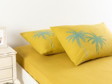 Glitter Palm Калъфка за Възглавница 2 Бр 50x70 См Зелено