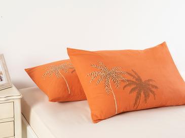 Glitter Palm Калъфка за Възглавница 2 Бр 50x70 См Портокал