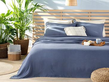 Cool Stripe Сет Пике-Лятно Одеяло Двоен Размер 200x220 См Тъмносиньо