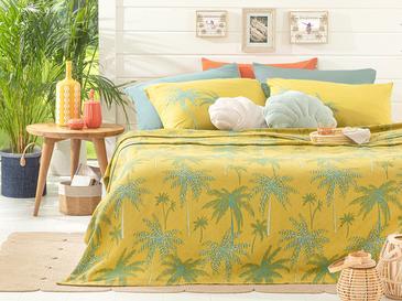 Glitter Palm Пике-Лятно Одеяло Единичен Размер 150x220 См Зелено