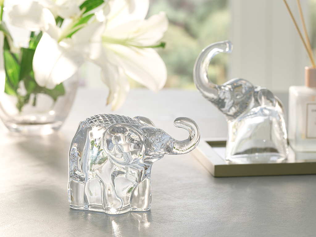 Happy Elephants Decoratıve Object Transparent