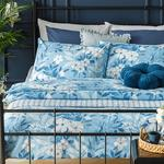 Summer Garden Cottony For One Person Duvet Cover Set Pack 160x220 Cm Blue