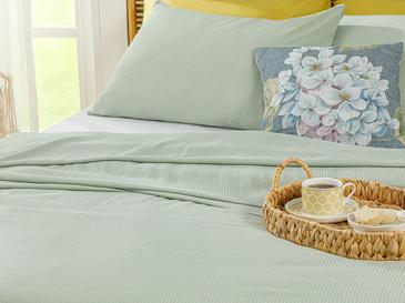 Cool Stripe Сет Пике-Лятно Одеяло Двоен Размер 200x220 См Светлозелено
