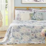 Printed For One Person Summer Blanket 150x220 Cm Hydrangea Color
