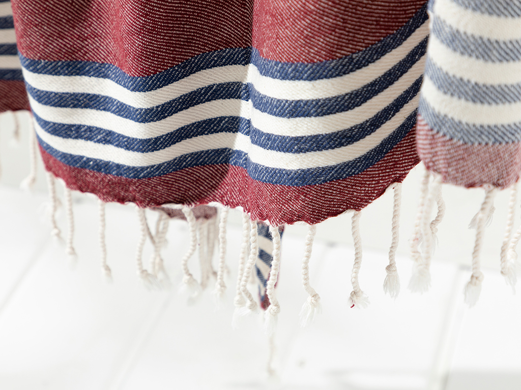 Nature Cottony Peshtemal Damson-navyblue