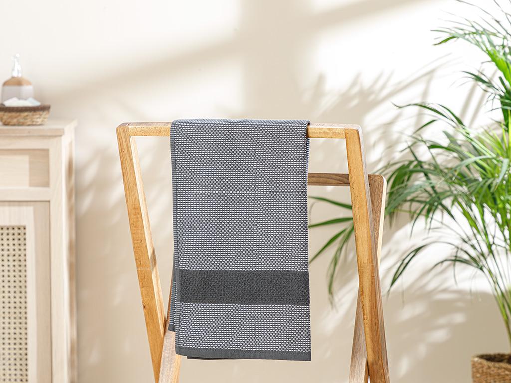 Elegant Lines Face Towel 50x80 Cm Antrachite