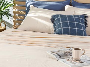 Cool Stripe Сет Пике-Лятно Одеяло Единичен Размер 150x220 См Слонова Кост