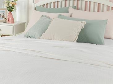 Petit Fleurs Пике-Лятно Одеяло King Size 220x240 См Бяло