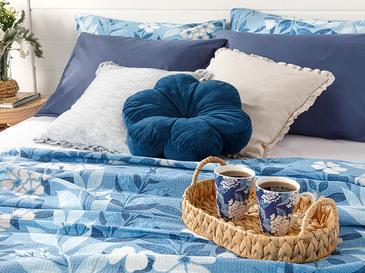Summer Garden Пике-Лятно Одеяло Двоен Размер 200x220 См Синьо