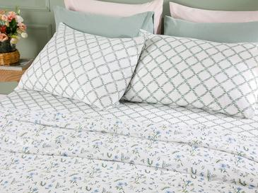 Country Flowers Комплект Пике-Лятно Одеяло Единичен Размер 150x220 См Синьо