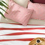Printed For One Person Summer Blanket Set 150x220 Cm Bordo