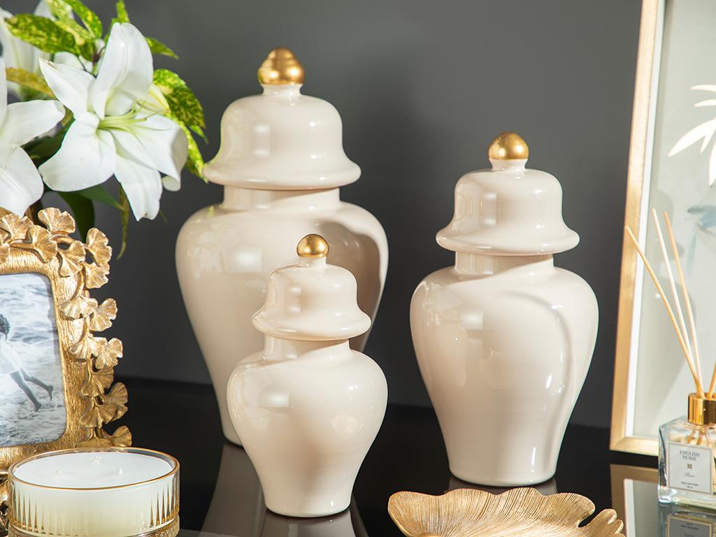 Chelsea Glass Küp 25 Cm Cream