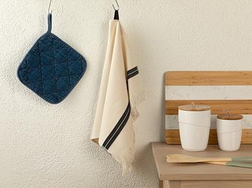 Ena Кърпа За Изсушаване С Ресни Памучен 40x60 Черно