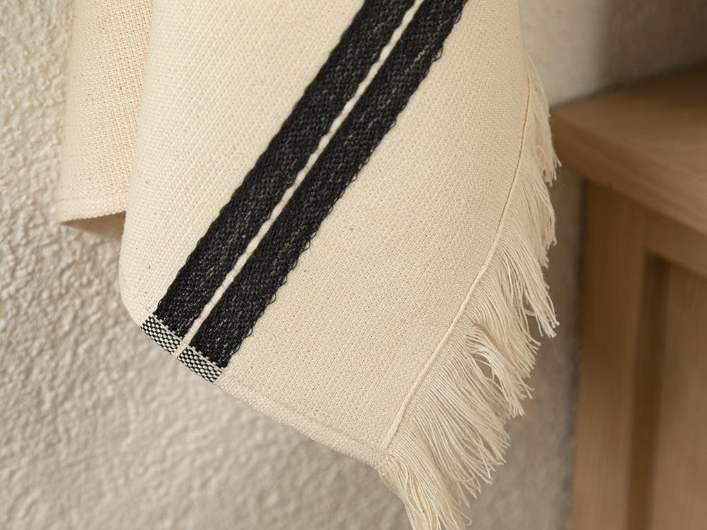 Ena Cotton Fringed Dryıng Cloth 40x60 Cm Black