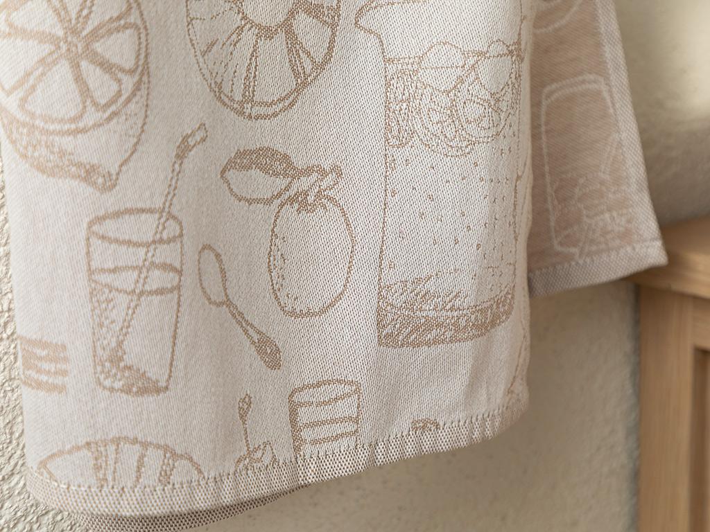 Fresh Cotton Polyester Dryıng Cloth 30x50 Cm Beige