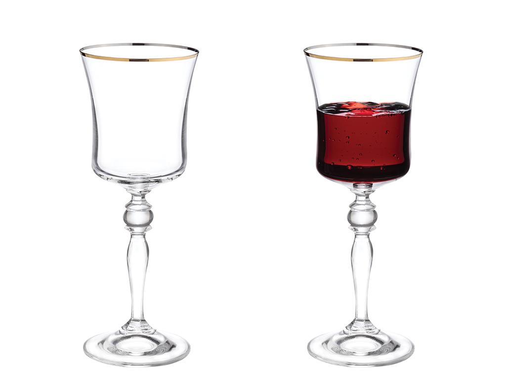 Dina Glass 6 Set Glass 250 Ml Gold