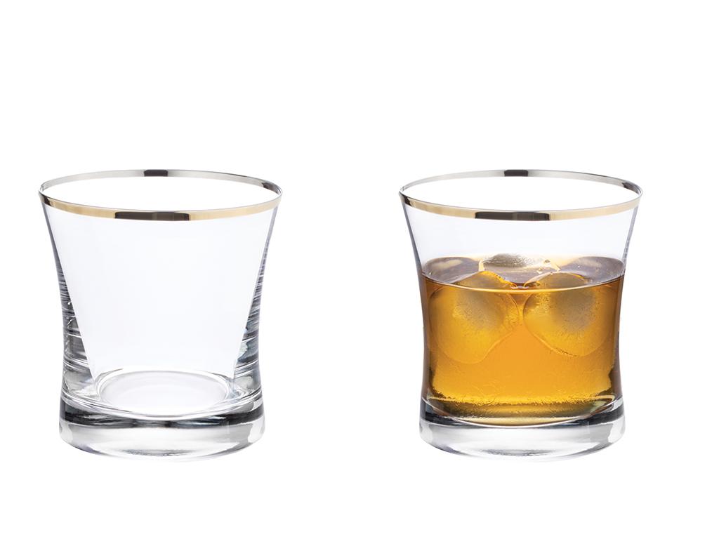 Dina Glass 6 Set Juıce Glass 60x60 Cm Gold