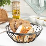 Holly %93 Metal %7 Mdf Bread Basket 40x40x3 Cm Antrachite