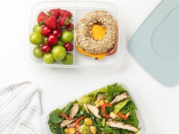 Nish Кутии за Съхранение На Храна 2 Бр. 2x1,35 L Синьо