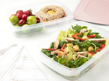 Nish Кутии за Съхранение На Храна 2 Бр. 2x1,35 L Розово