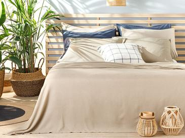 Cool Stripe Сет Пике-Лятно Одеяло Двоен Размер 200x220 См Бежово
