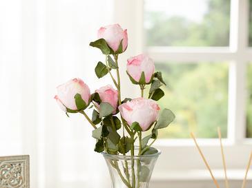Rose Bouquet Една Клонка Изкустве 60x90x3 Cm Светлорозово