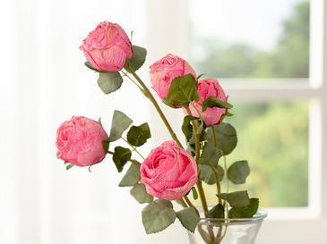 Rose Bouquet Една Клонка Изкустве 60x90x3 Cm Розов