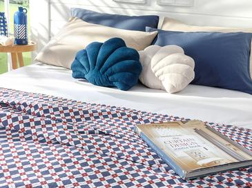 Oxford Пике-Лятно Одеяло Единичен Размер 150x220 См Тъмносиньо