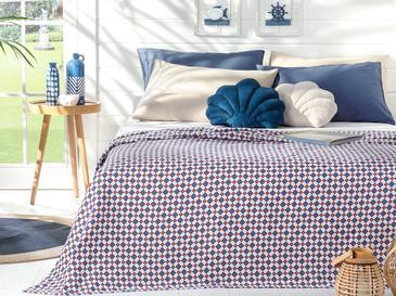 Oxford Пике-Лятно Одеяло Двоен Размер 200x220 См Тъмносиньо