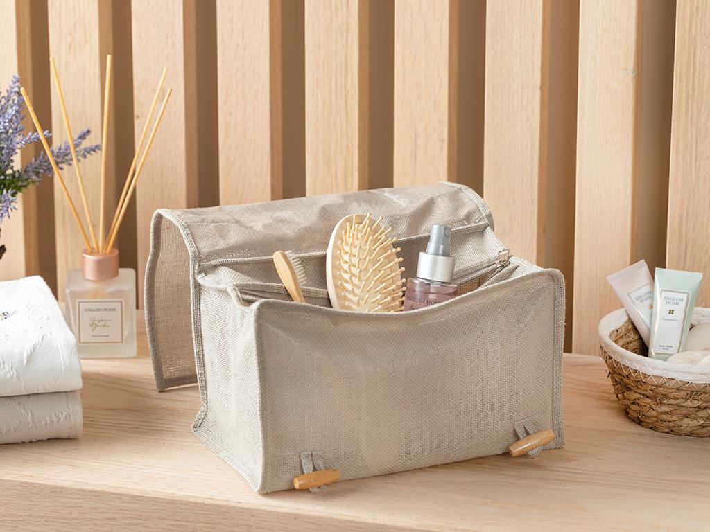 Linen Large Travel Bag Beige