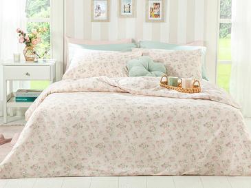 Sweet Rose Памучен Сет Горен Плик+2 Калъфки King Size 260x220 См Пудра