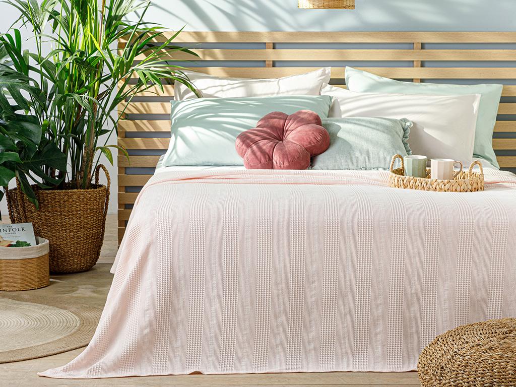 Comb King Size Summer Blanket 220x240 Cm. Pink