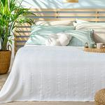 Comb For One Person Summer Blanket 150x220 Cm White