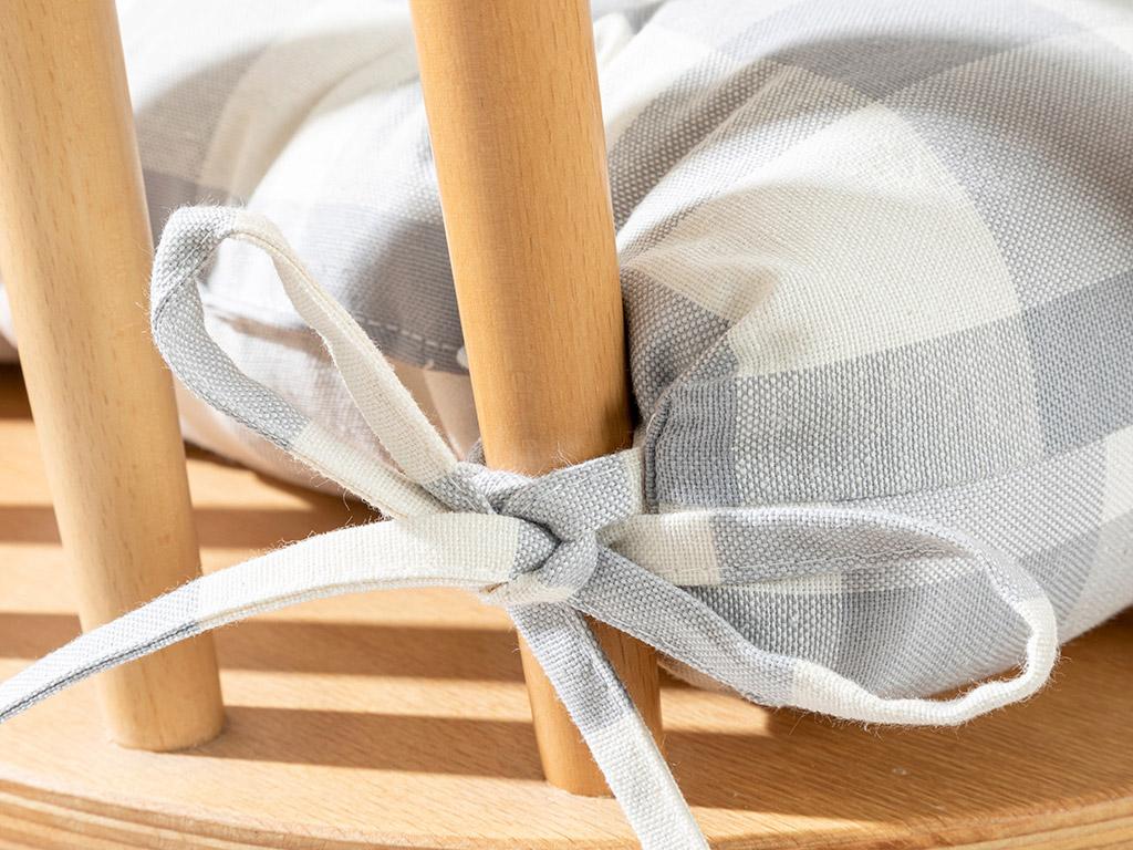 Cotton Polyester Kıtchen Cushıon 45x45 Cm Gray