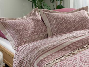 Greek Key Комплект Покривало за Легло Единичен Размер 160x240 См Слива